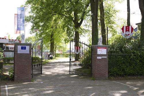 Hoofdingang voetbalvereniging ontmoetingspark Rigtersbleek