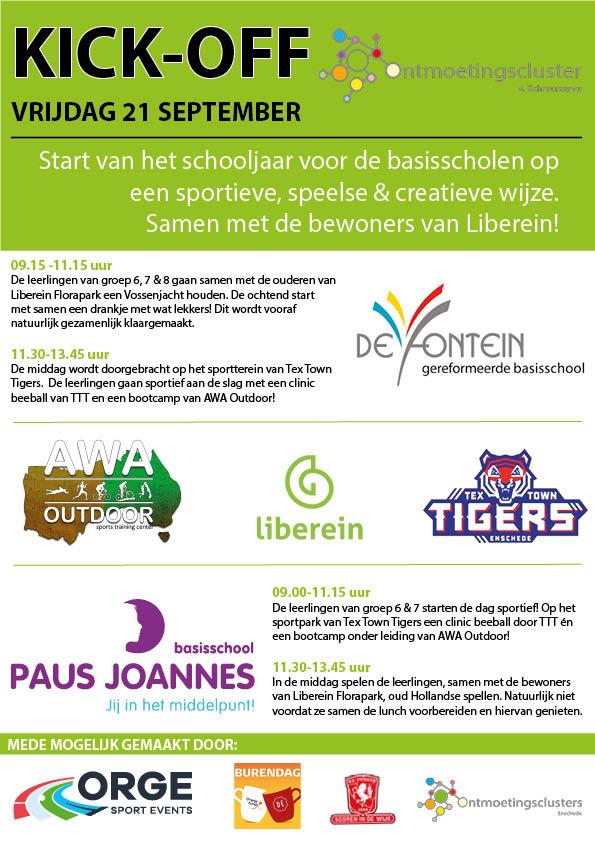 Poster Kick-Off basisscholen Schreurserve Enschede (sept 2018)