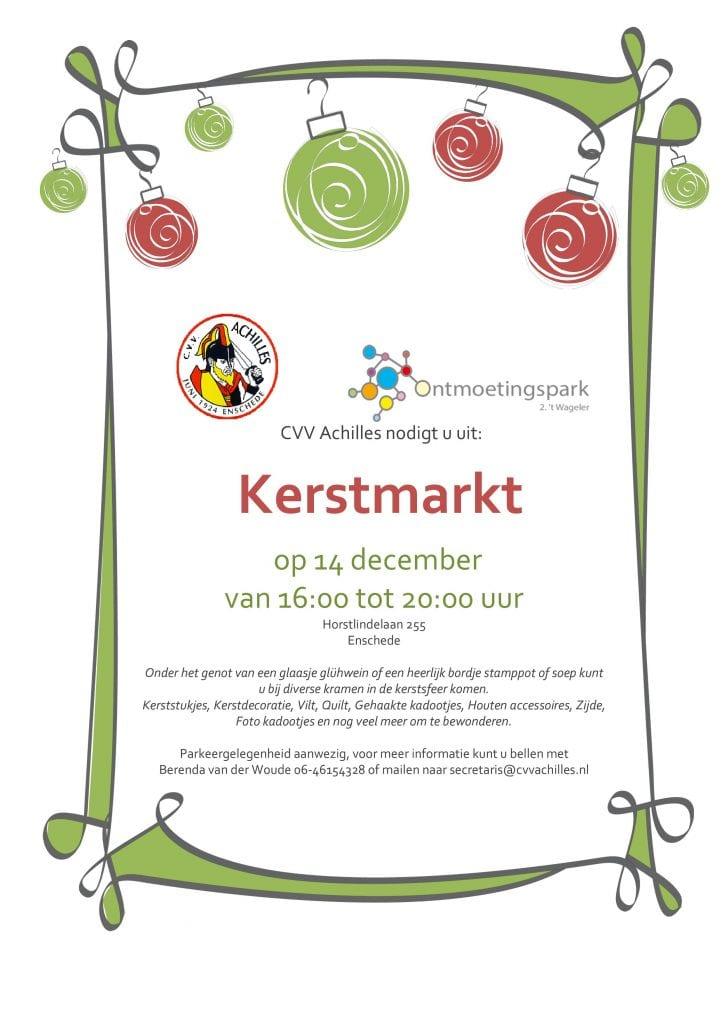 Kerstmarkt Ontmoetingspark 't Wageler CVV Achilles