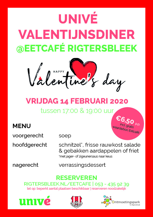 Unive Valentijnsdiner (poster)