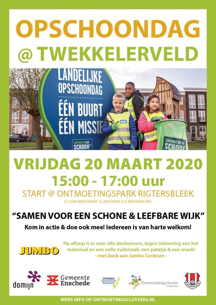 Opschoondag Twekkelerveld 2020 (poster A3) + Jumbo