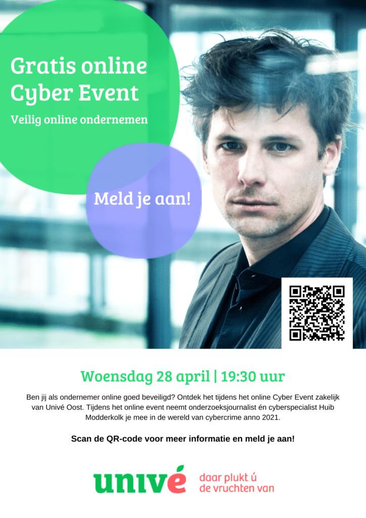 flyer online cyber event zakelijk